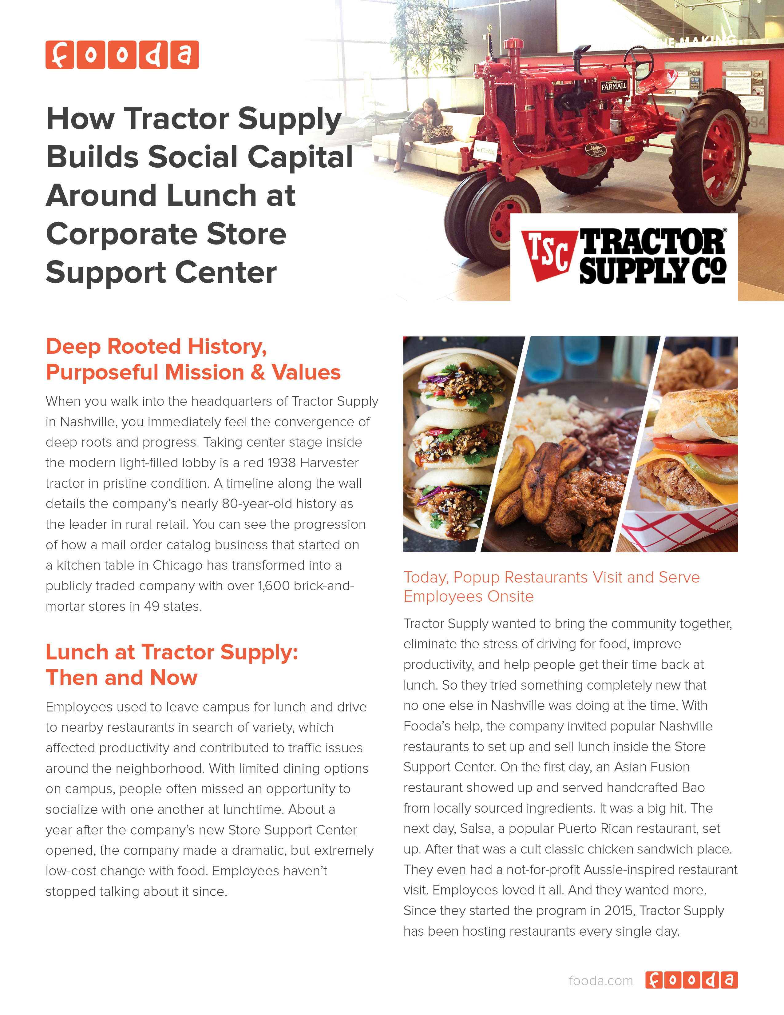 How Tractor Supply Builds Social Capital Around Lunch at Corporate ...